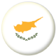 Cyprus Country Flag 25mm Keyring